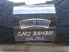 Universal Saki Bamboo Solid BLACK 1.75 oz Merino Superwash Bld Super Fine #1 SDL