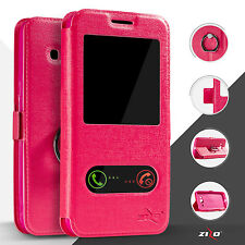 For LG K10 Premier LTE L62VL L61AL Flip Window Pouch Phone Case - Pink