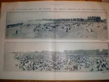 Panoramic photos Yarmouth Lowestoft sands UK 1911