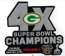 GREEN BAY PACKERS NFL SUPERBOWL CHAMPS PATCH 7 X 5 3/4  SUPER BOWL 51 ? RODGERS