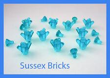Lego - 10x 4-Point Trans-Blue Rock Ice Crystal +10x Gem Jewel - Brand New Pieces