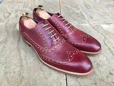 Barker Grant Wing Tip Brogue Shoes Rum Mustard Calf UK 10 B.N.I.B