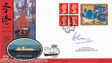 1997 Hong Kong Label - Benham BLCS Off - P Square H/S - Signed by R Adm GREENING