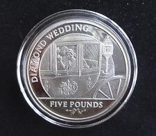 2007 SILVER PROOF GIBRALTAR £5 COIN + COA DIAMOND WEDDING ANN WEDDING DAY DEPAR