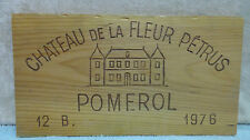1976 CHATEAU DE LA FLEUR PETRUS POMEROL WOOD WINE PANEL END