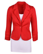 Casual Slim Solid Suit Blazer Jacket Coat Outwear Women Candy Color Business Top