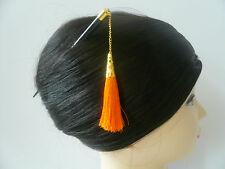 Japanese Orange Tassel Kumi Kanzashi Hair Wood Stick Ornament