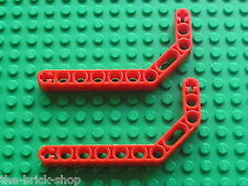 LEGO TECHNIC red beam liftarm bent ref 32009 / set 8294 8653 8109 7665 8285 8416