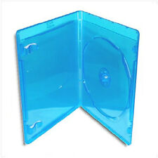 NEW! Thin BLU-RAY Case *3-Pack* Official Logo-Molded Design (6mm) Blue