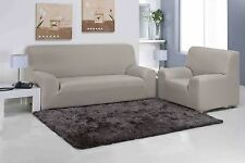 EASY STRETCH ELASTIC FIT FABRIC SOFA / SETTEE SLIP COVER - 1 / 2 / 3 Seater