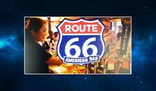 Route 66 American Bar Fridge Magnet.  Americana