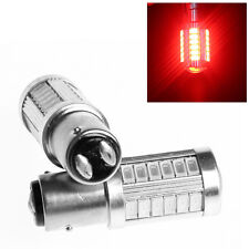 2Pcs Red 1157 BAY15D 5630 SMD 33 LED Led Tail Stop Brake Light Lamp Bulb