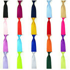 Men Skinny Solid Color Satin Tie Classic Thin Business Party Wedding Necktie