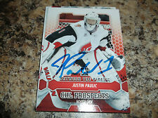2012-13 ITG BTP Justin Paulic # 38 Moose Jaw Warriors AUTOGRAPHED CARD