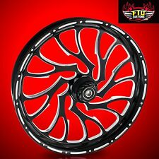 """Harley Davidson Electra Glide 21"""" Inch Front Wheel """"Nightmare"""" by FTD Customs"""