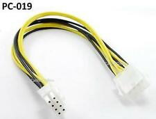 """12"""" 8-Pin 2x2 ATX Power Supply Male to Female Extension Cable /  Cord,  PC-019"""