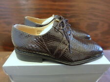 Giorgio Brutini Mens Oxford Brown Snakeskin Leather Dress Shoes Size 8 M
