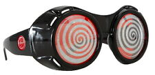 SteamPunk Cosplay Black X-Ray Goggles with Red Sparkle Lenses, NEW UNUSED