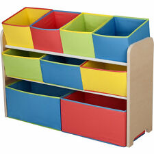 Deluxe Toy Organizer,With Multi-color Fabric Bins,Unisex, Easy Assemble, NEW
