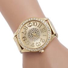 1 PIEZA Mujer De lujo Cristal Diamante Cuarzo Acero Inoxidable Pulsera Reloj