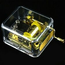 18Note Hand Crank Shake Gold Movement Music Box Kids Gift Toy Play Spirited Away