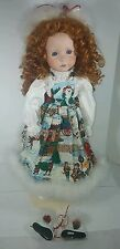 The Doll Maker Christmas Skater Doll 24 inches Signed by Linda Rick # 222/1000