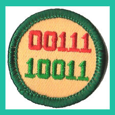 COMPUTER FUN Junior Jade Girl Scout Badge 2001 NEW Retired Patch Multi=1 Ship