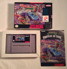 Teenage Mutant Ninja Turtles IV: Turtles in Time SNES Boxed CiB TESTED WORKS