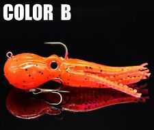 "NEW 3 1/2"" Rigged Octopus Fishing Lure Jig For Lingcod Halibut Grouper Snapper"
