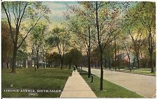Lincoln Avenue Looking South in Salem OH Postcard 1918