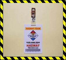 HAZMAT ID Card PVC   Customize With Your Name   PVC ID - FD SAFETY - TAG - BADGE