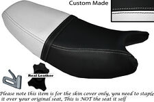 BLACK & WHITE CUSTOM FITS SKYGO SG 150 DUAL LEATHER SEAT COVER ONLY