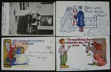 Lot of 11 1905-09 Undivided Back Postcards Comic Douglass Portland Worlds Fair
