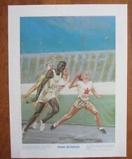 VINTAGE POSTER~Percy Williams 1928 Olympics Canada Sports 1970's Prudential New~