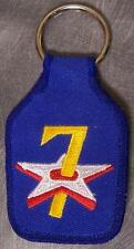 Embroidered Cloth Military Key Ring 7th Air Force NEW