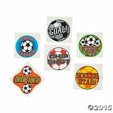 72 Soccer Ball Goal Sports Temporary Tattoos Kids Boys Birthday Party Favors