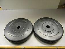 2 Gewichte Hantel Hantelscheiben Hantelgewichte 2 x 5 kg.