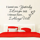 I love you always heart quote Removable Room Vinyl Decal Art DIY Wall Sticker KN