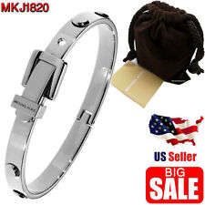 Michael Kors Wrist bracelet for women MKJ1820 Silver Bangle Buckle Fashionable