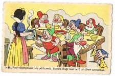 CPA BLANCHE NEIGE ET LES 7 NAINS N° 14