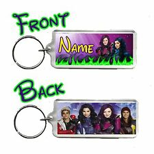 Disney Descendants Personalised Name Number Plate Bag Tag Rectangle Keyring