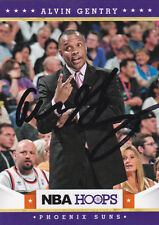 ALVIN GENTRY PHOENIX SUNS SIGNED CARD NEW ORLEANS PELICANS CLIPPERS PISTONS HEAT