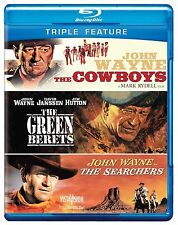 THE COWBOYS / THE SEARCHERS / GREEN BERETS -  Blu Ray - Sealed Region free