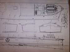 MISS ENGLAND speed boat  model boat plans