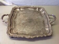 Countess International Silver Company Footed Two Handle Serving Platter Tray