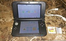 Nintendo 3DS XL Blue w/ charger 16gb SD  Zelda Ocarina of Time 3DS 3 games total