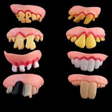 Tricky Funny Rubber Fake Halloween Costume False Teeth Dentures Funny Goofy E