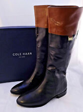 New COLE HAAN Walden Leather Black Riding Boot Women's Sz 8.5 M (US) RETAIL $300