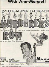 ANN MARGRET MURDERERS' ROW PRESSBOOK DEAN MARTIN AS MATT HELM MALDEN SPARV ADAMS