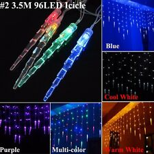 Icicle Hanging LED Curtain Fairy Lights Indoor Outdoor Christmas Wedding Party